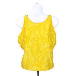 Nike Dri Fit Yellow Floral Racerback Tank Top XL